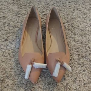 Nude Flats with Tassel-never worn